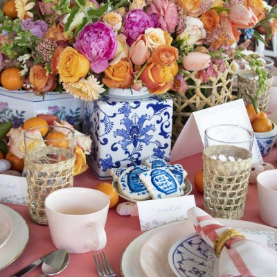 Huckleberry Collective's Palm Beach Brunch Tablescape