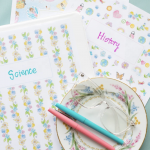 Activity Printable Day 10: Binder Sheets
