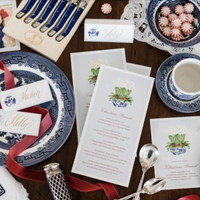 A Blue & White Ladies Holiday Luncheon