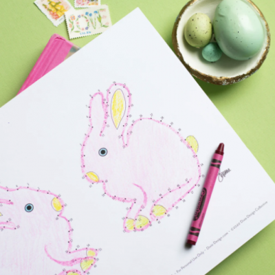 Activity Printable Day 14: Easter Dot to Dot