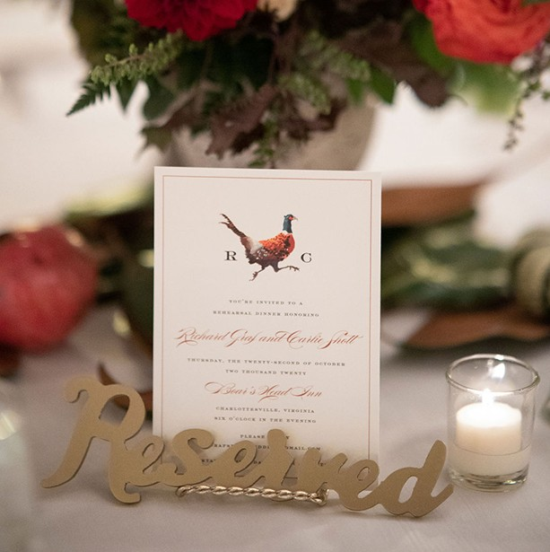 Real Weddings: Carlie and Richard's Autumnal Rehearsal Dinner
