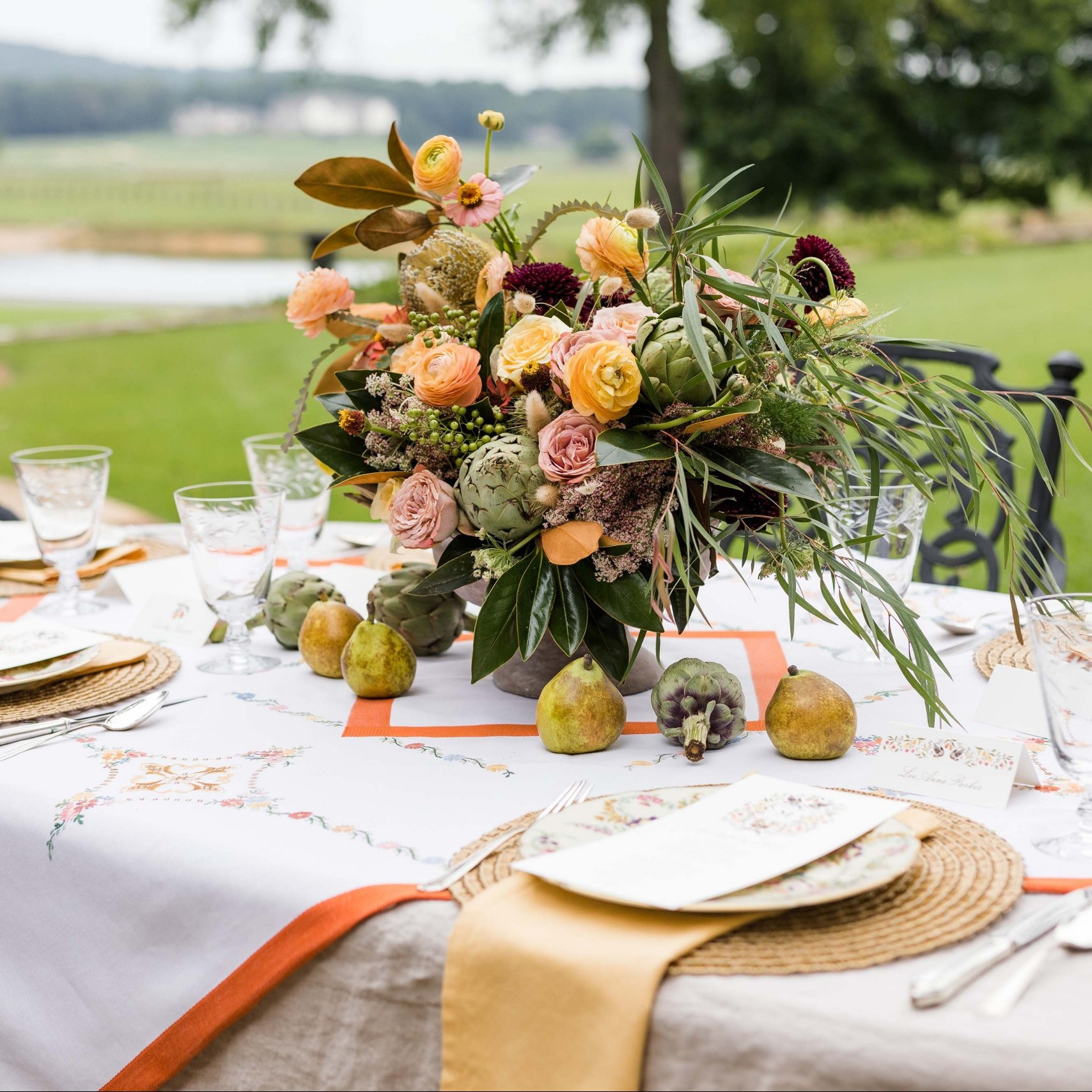 A Thanksgiving Table at Pursell Farms