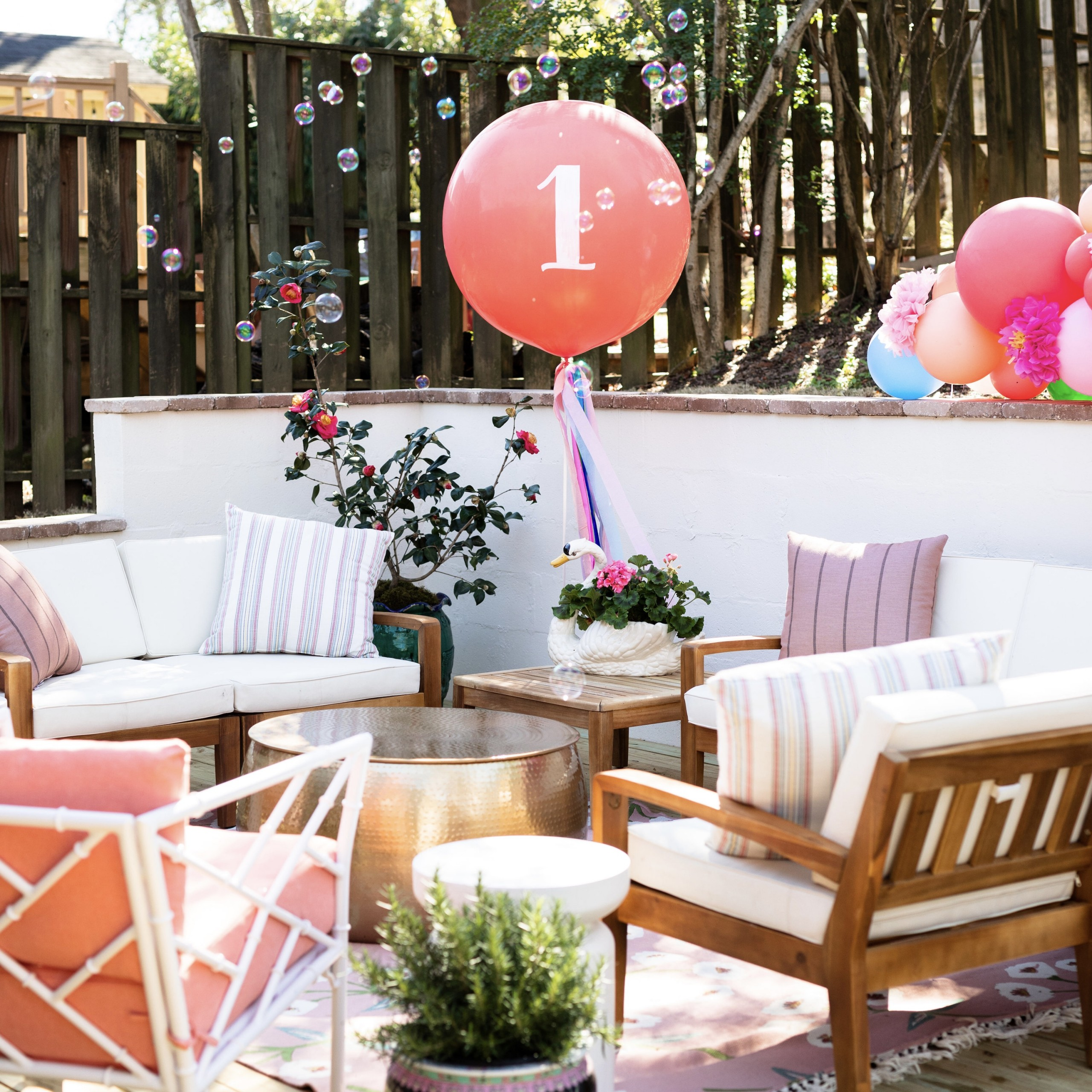 A Colorful First Birthday Party
