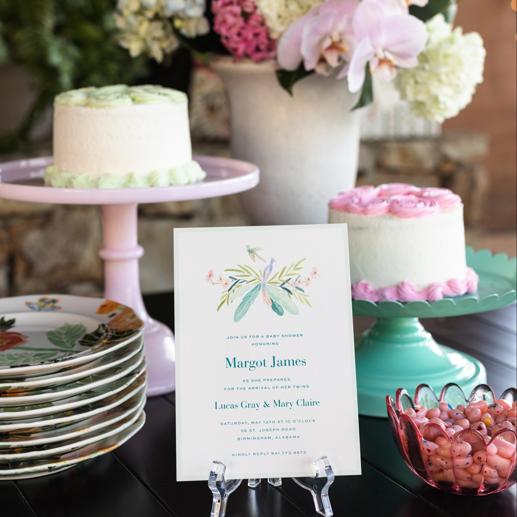 Setting the Scene … A Baby Shower for Twins!